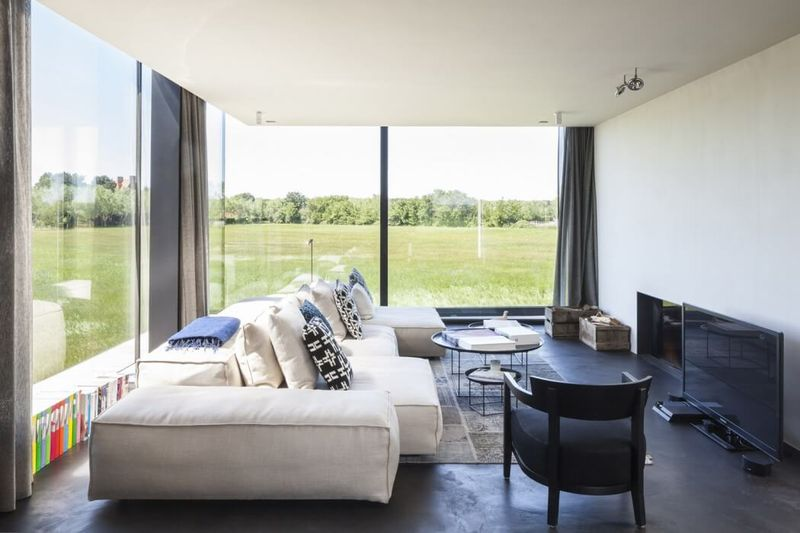 salon & TV - Graafjansdijk-House par Govaert & Vanhoutte Architects - Belgique