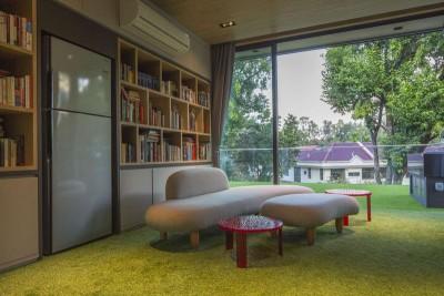 mini salon design & bibliothèque - Trevose-House par Ad-Lab - Singapour
