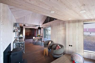 pièce de vie - Wooden-House par ASGK design - Lodin, République Tchèque