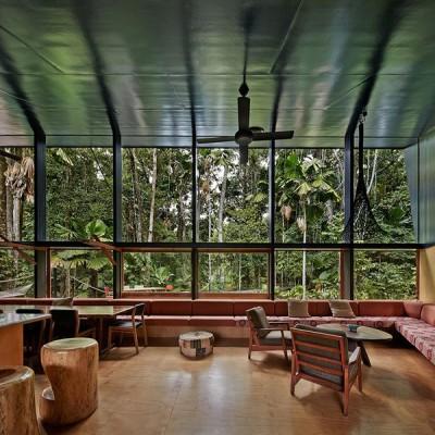 salle séjour & salon - house-tropical par m3architecture - Queensland - Australie