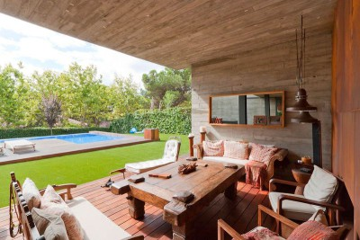 terrasse salon design - villa-madrid par Modern Homes - Madrid, Espagne