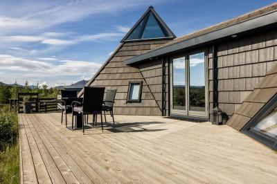 terrasse salon design - Vacation-home par Stunning Pyramid - Thingvellir, Islande