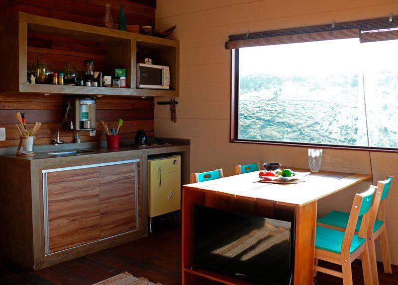 Salle de séjour & cuisine - Small-House-Bliss par Cabana-Arquitetos - Brésil
