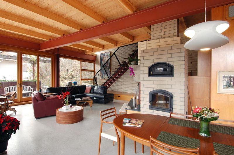 Salon & salle séjour - Ellis Park House par Altius Architecture - Toronto, Canada