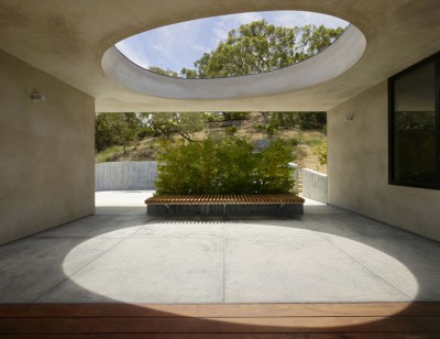façade terrasse & oculus - Overlook-House par Schwartz and Architecture - Californie, USA