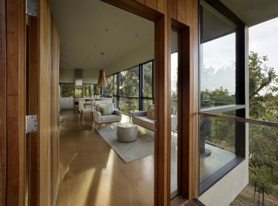 pièce de vie - Overlook-House par Schwartz and Architecture - Californie, USA