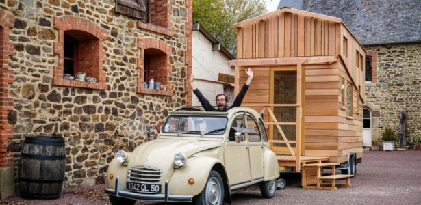 la tiny house de bruno thi ry en normandie france. Black Bedroom Furniture Sets. Home Design Ideas