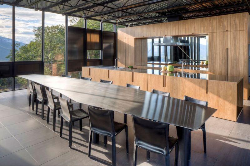 salle séjour & cuisine - Shokan-House par Jay Bargmann  - New York, USA