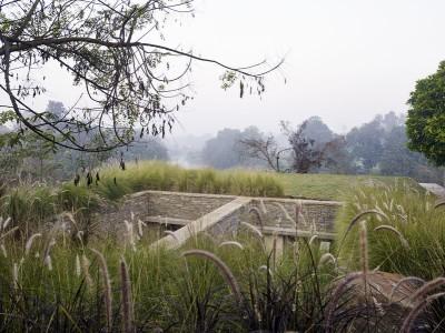 toiture végétalisée & partie semi-enterrée - Riparian-House - Architecture Brio - Karjat, Inde