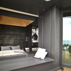 Biae vitrée coulissante chambre - Spectacular-Views-Home par Create Think Design - Taïwan