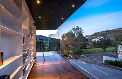 Bibliothèque & vue panoramique paysage - Red Oak House par Roof Arquitectos - Morelia, Mexique