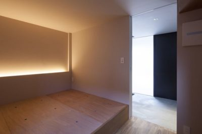 Chambre principale étage - Nest par Apollo-Architects - Nagoya, Japon