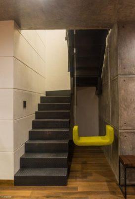 Escalier accès étage & balançoire - Casa-Arbo par Maria Di Frenna Müller - Colima, Mexique