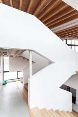 Escalier bois - Twin-Blade par NIO Architecten - Amsterdam, Hollande