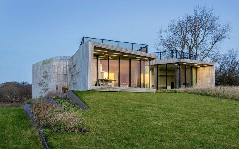 Charmante maison intelligente semi enterr e en campagne for Construire une maison intelligente