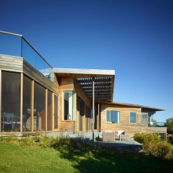 Façade jardin - Vineyard-Farm-House par Charles Rose Architects - Massachusetts, USA