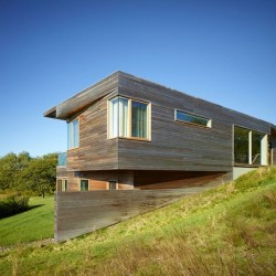 Façade principale - Vineyard-Farm-House par Charles Rose Architects - Massachusetts, USA