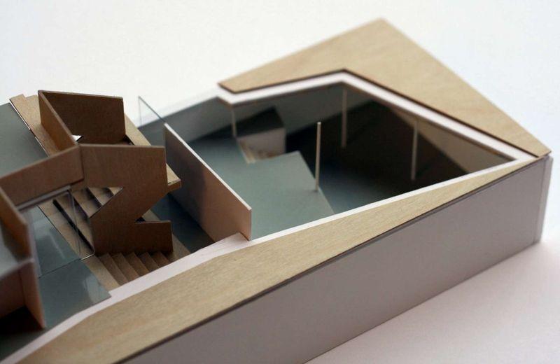 Maquette 3D espace intérieur - Twin-Blade par NIO Architecten - Amsterdam, Hollande