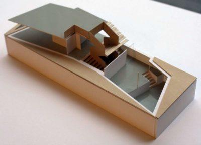 Plan & Maquette 3D - Twin-Blade par NIO Architecten - Amsterdam, Hollande