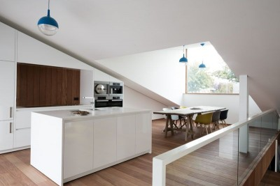 Salle de séjour & salle de séjour - wedge-shaped-house par Architectes Oyo, Belgique