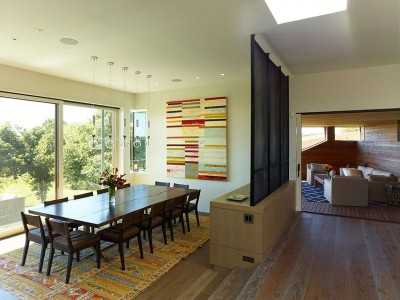 Salle séjour & salon - Vineyard-Farm-House par Charles Rose Architects - Massachusetts, USA