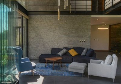 Salon & accès intérieur - Casa-Arbo par Maria Di Frenna Müller - Colima, Mexique