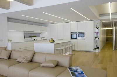 Salon & pilot central de cuisine - Casa-Nl_Nf par Architrend Architecture - Ragusa, Italie