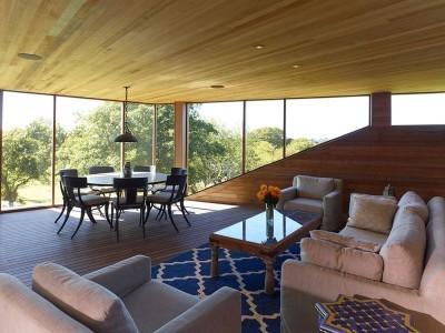 Salon & salle séjour - Vineyard-Farm-House par Charles Rose Architects - Massachusetts, USA