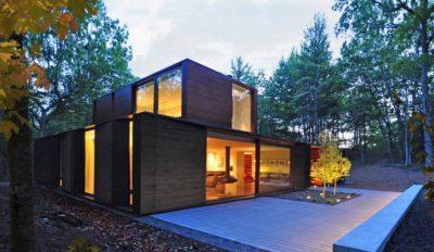 Pleated-House par Johnsen-Schmaling - Wisconsin, USA