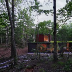 Vue d'ensemble - Pleated-House par Johnsen-Schmaling - Wisconsin, USA
