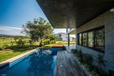 façade jardin & piscine - Casa-Arbo par Maria Di Frenna Müller - Colima, Mexique