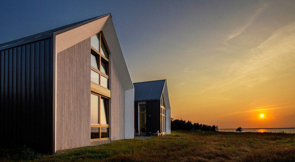 Maisons bois jumelées pour retraite canadienne au bord de mer ...