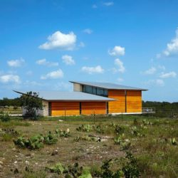 Arrière seconde maison - Glass-House par Jim Gewinner Texas, USA