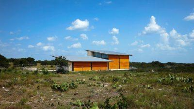 Arrière seconde maison - Glass-House par Jim Gewinner Texas, USA