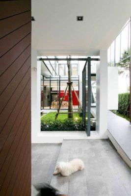 Couloir intérieur - chokchai-4-house par Archimontage Design - Bangkok, Thailande