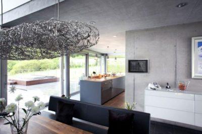 Cuisine & salle séjour - High-Tech-Modern-Home par Eppler Buhler, Allemagne