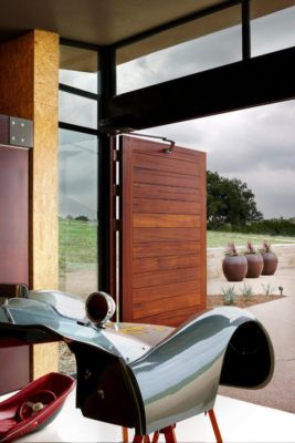 Entrée garage - Glass-House par Jim Gewinner Texas, USA