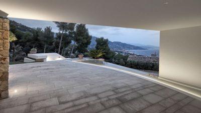 Entrée principale & vue panoramique paysage - Contemporary-Villa par A2CM - Ceschia Mentil - France