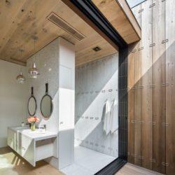 Entrée salle de bains & lavabo - Elizabeth-II par Bates Masi New York, USA