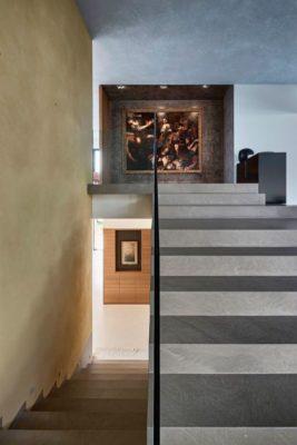 Escalier accès étage supérieur - Contemporary-Villa par A2CM - Ceschia Mentil - France