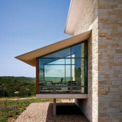Extension pièce avec baie vitrée - Glass-House par Jim Gewinner Texas, USA