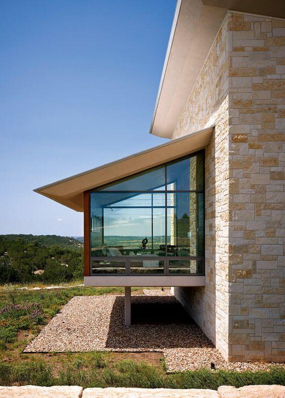 Extension pièce avec baie vitrée – Glass-House par Jim ...