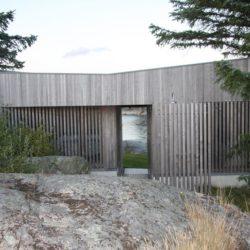 Façade bois arrière bâtiment - Lyngholmen par Lund Hagem - Lillesand, Norvege