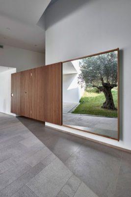 Façade entrée bois coulissante - Contemporary-Villa par A2CM - Ceschia Mentil - France