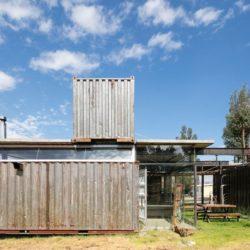 Façade extérieure container - RDP-House par Daniel Moreno Flores pichincha, Equateur