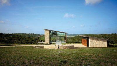 Façade jardin - Glass-House par Jim Gewinner Texas, USA
