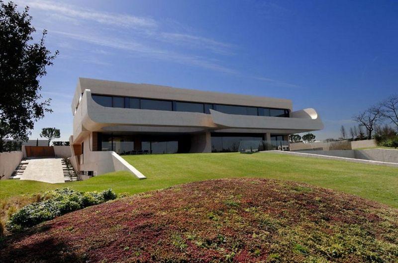 Façade jardin arrière villa - Designs-Sculptural par A-Cero - Madrid, Espagne