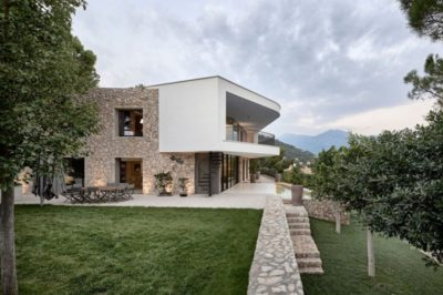 Façade jardin & terrasse - Contemporary-Villa par A2CM - Ceschia Mentil - France