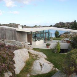 Façade jardin & terrasse - Lyngholmen par Lund Hagem - Lillesand, Norvege