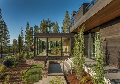 Façade jardin & terrasse - Martis Camp par Blaze Makoid - Californie, USA